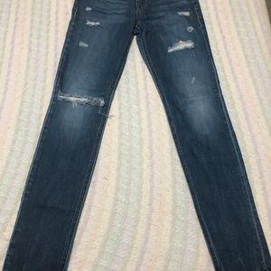 Joe's Skinny Blue Distressed Jeans Women's Size 27